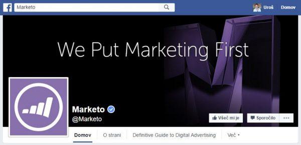 Upoštevanje dobre prakse pri uporabi teksta v naslovni sliki Facebook strani